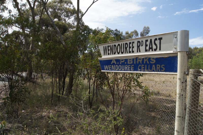 Road sign to AP Birks Wendouree Cellars
